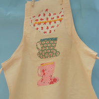Teacups Child's Apron