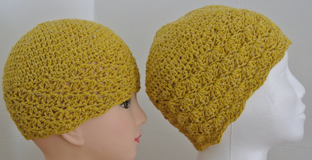 Crochet Child's & Matching Adults Beanie Hat's