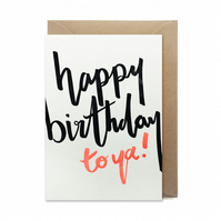 Birthday card: letterpress, handmade - FREE DELIVERY