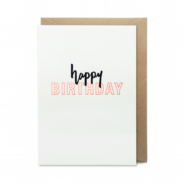Birthday card: letterpress, handmade