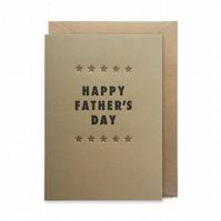 Father's day card, letterpress, handmade - Happy Father's day