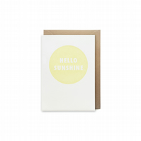 Small letterpress card - Hello sunshine - handmade