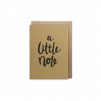 Small letterpress card - handmade - a little note - FREE UK DELIVERY