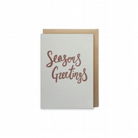 Small christmas card - letterpress card - handmade