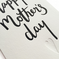 Mother's day card, letterpress, handmade - FREE UK DELIVERY