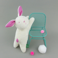 Rose bonbon bright pink plush bunny rabbit soft toy for babies and toddlers