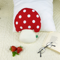 Mushroom toadstool shaped cushion for children and baby's bedroom