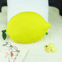 Lemon yellow shaped cushion