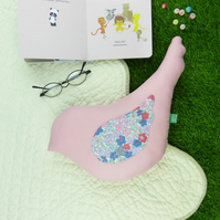 Bird shaped cushion - pink spring summer home decoration