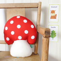 Toadstool-shaped cushion