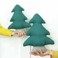 Christmas tree-shaped cushions