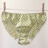 Pretty Gingham Knickers - light green