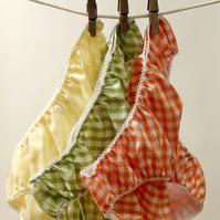 3 pairs of Lovely Handmade Knickers - citrus