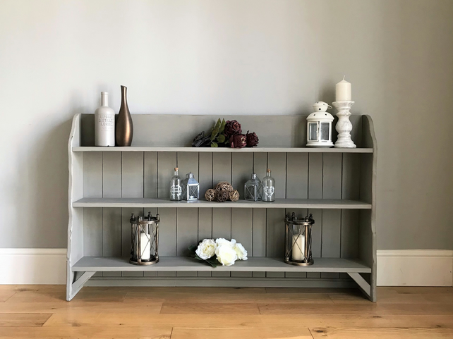 official photos f3680 3800a Vintage Oak Painted Shelving Unit (delivery quote available on request)