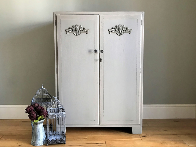new style d0dd2 2acbe Vintage Grey Painted Tallboy (delivery quote available on request)