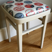 Vintage wooden painted kitchen stool (delivery quote available on request)