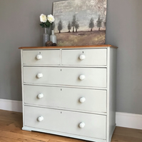 Rustic Solid Antique Pine Chest of Drawers (delivery quote available on request)