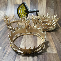 Joffrey, Robert and Renly Baratheon crowns - game of thrones.  3D Printed