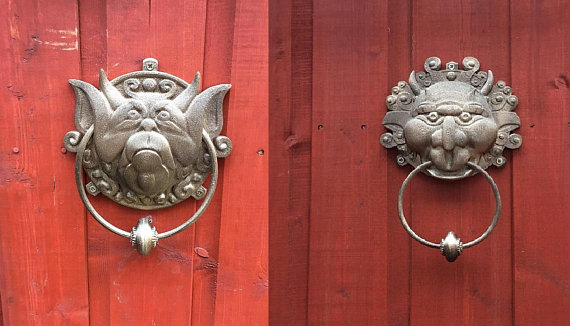 Labyrinth door knockers  Right and or Left - 3D    - Folksy