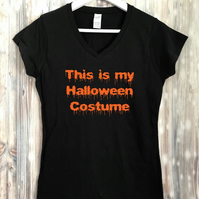 Lazy Halloween costume t-shirt top tee, lazy funny slogan ladies men child my