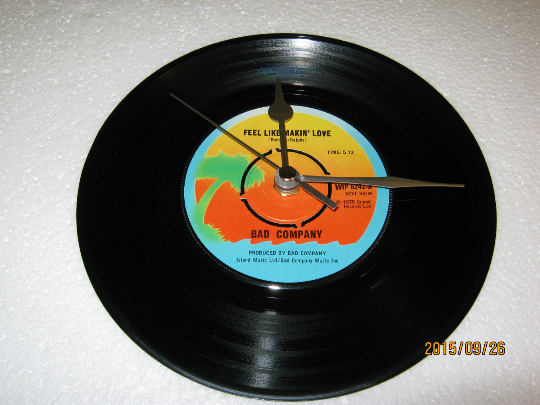 "Bad Company - ""Feel Like Makin' Love"" 7"" Vinyl Record Wall Clock"