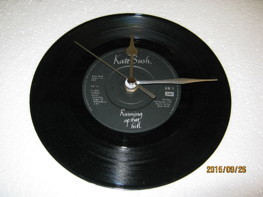 "Kate Bush - ""Running UpThat Hill"" Record Wall Clock"