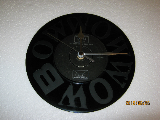 "Bow Wow Wow - ""I Want Candy"" 7"" Vinyl Record Wall Clock"