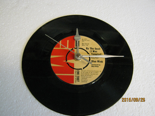 "Blue Mink - ""By The Devil (I Was Tempted)"" 7"" Vinyl Record Wall Clock"