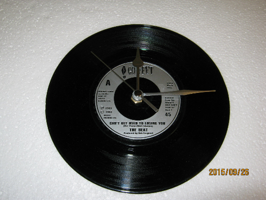 "The Beat - ""Can't Get Used To Losing You"" 7"" Vinyl Record Wall Clock"