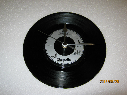 "Blondie - ""Atomic"" 7"" Vinyl Record Wall Clock"