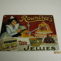 Rowntrees Table Jellies Enamel Wall Clock