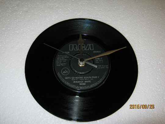 "Average White Band - ""Let's Go Round Again"" 7"" Vinyl Record Wall Clock"