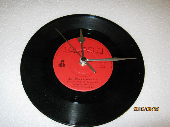 "The Alarm - ""Love Don't Come Easy"" 7"" Vinyl Record Wall Clock"