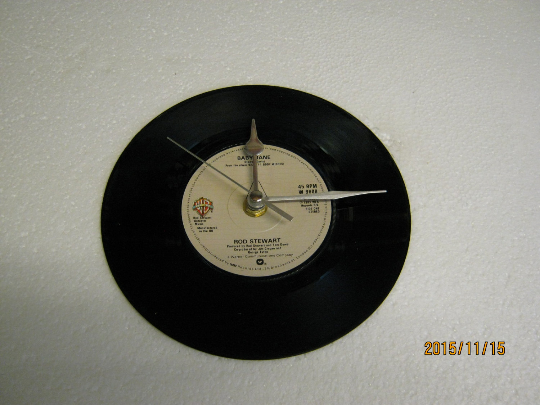 "Rod Stewart - ""Baby Jane"" 7"" Vinyl Record Wall Clock"