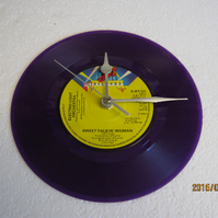 "The Electric Light Orchestra - ""Sweet Talkin' Woman"" 7"" Vinyl Record Wall Clock"