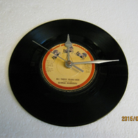 "George Harrison - ""All Those Years Ago"" 7"" Vinyl Record Wall Clock"