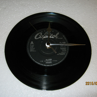 "Heart - ""Alone"" 7"" Vinyl Record Wall Clock"