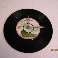"Bryan Ferry - ""Smoke Gets In Your Eyes"" 7"" Vinyl Record Wall Clock"