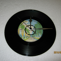 "The Faces - ""Pool Hall Richard"" 7"" Vinyl Record Wall Clock"