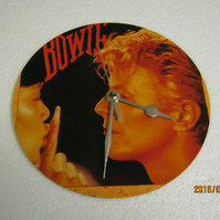 "David Bowie - ""China Girl"" 7"" Vinyl Record Sleeve Wall Clock"