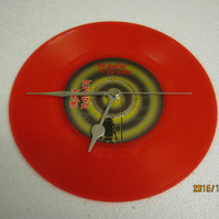 "Iron Maiden - ""The Number Of The Beast"" 7"" Red Vinyl Record Wall Clock"