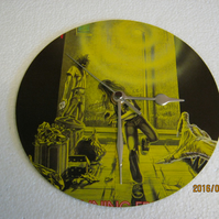 "Iron Maiden - ""Running Free"" 7"" Vinyl Record Sleeve Wall Clock"