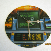 "Iron Maiden - ""Wasted Years"" 7"" Vinyl Record Sleeve Wall Clock"
