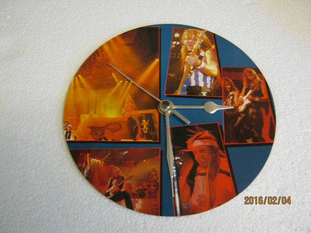 "Iron Maiden - ""In Concert"" 7"" Vinyl Record Sleeve Wall Clock"