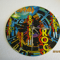 "Def Leppard - ""Rocket"" 7"" Vinyl Record Sleeve Wall Clock"