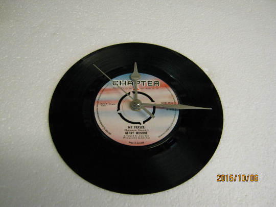 "Gerry Monroe - ""My Prayer"" 7"" Vinyl Record Wall Clock"