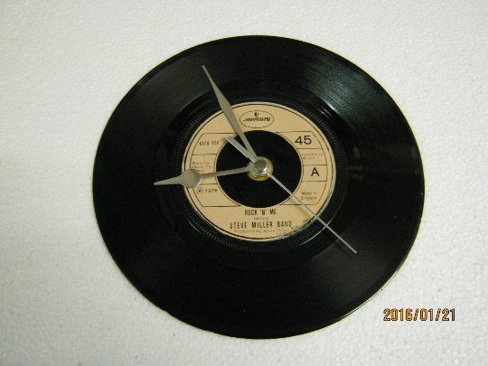 "The Steve Miller Band - ""Rock 'N' Me"" 7"" Vinyl Record Wall Clock"