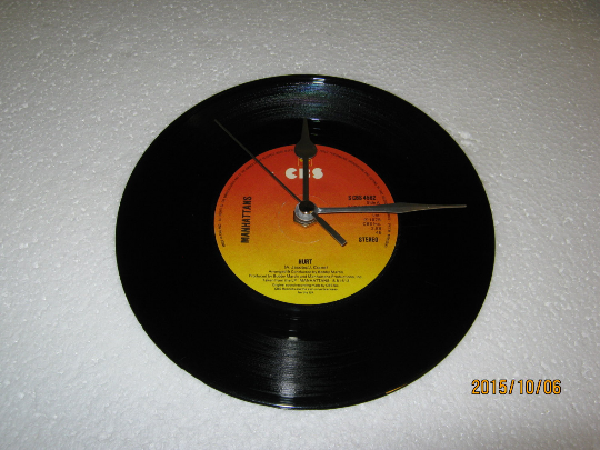 "The Manhattans - ""Hurt"" 7"" Vinyl Record Wall Clock"