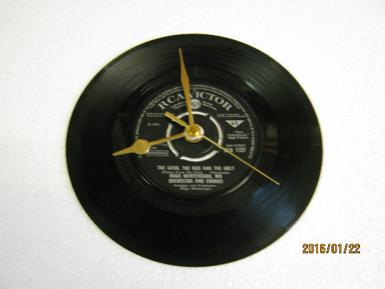 "Hugo Montenegro - ""The Good, The Bad And The Ugly"" 7"" Vinyl Record Wall Clock"