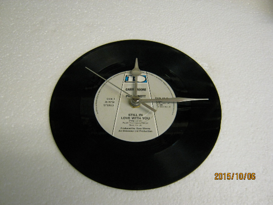 "Gary Moore & Phil Lynott - ""Still In Love With You"" 7"" Vinyl Record Wall Clock"